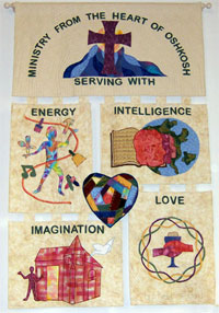 Quilt with mission statement